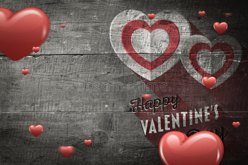 Download Composite image of hearts stock illustration. Illustration of weathered - 49569967