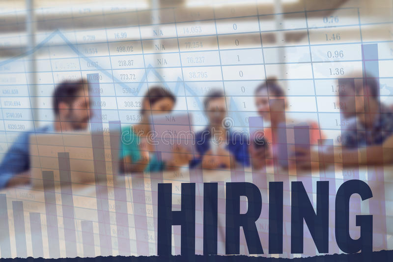 Composite image of hiring stock images