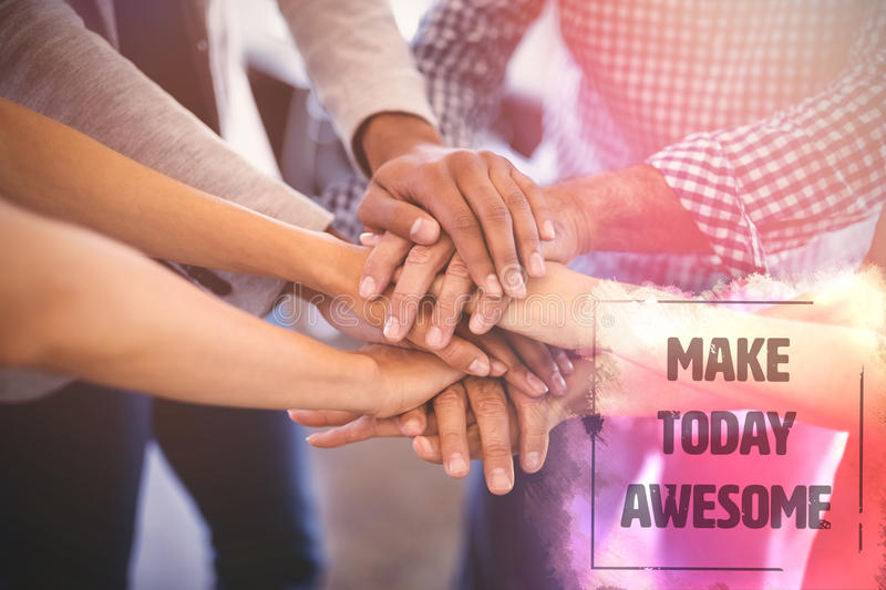 Composite image of make today awesome text on yellow paint stock images