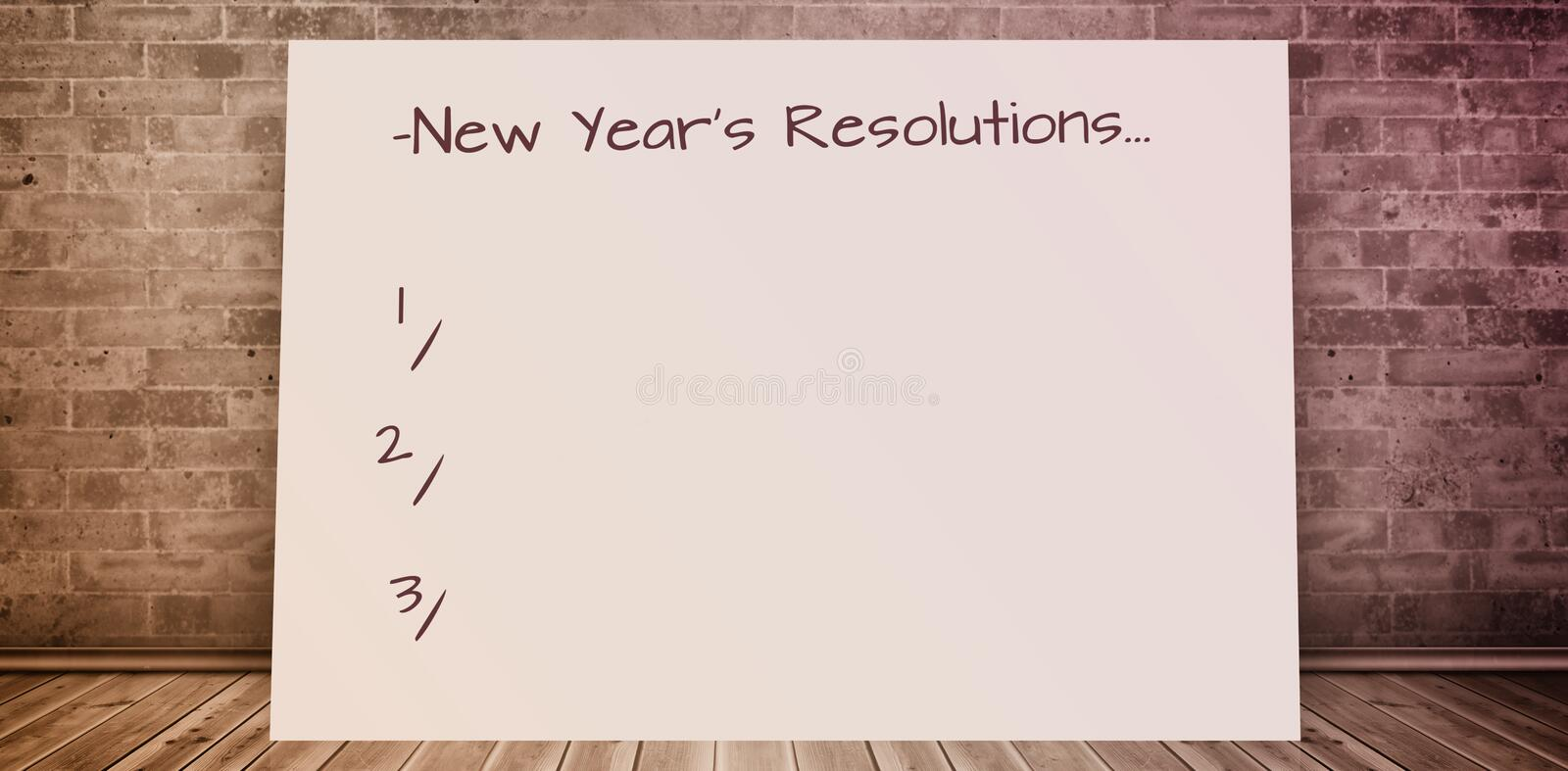 Composite image of new years resolution stock image