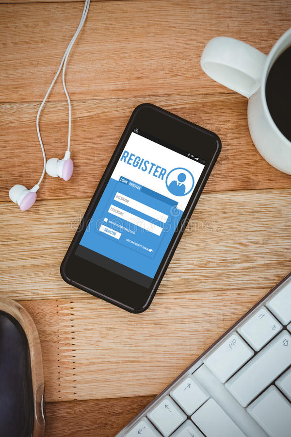 Free Composite Image Of Telephone Register Application Royalty Free Stock Images - 66220289