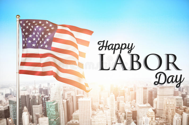 Composite image of poster of happy labor day text royalty free stock images