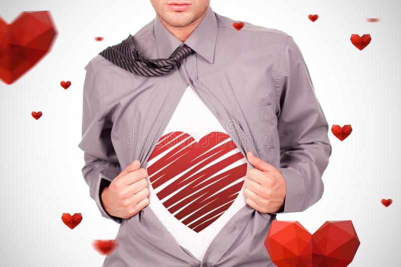 Composite image of red heart stock photography
