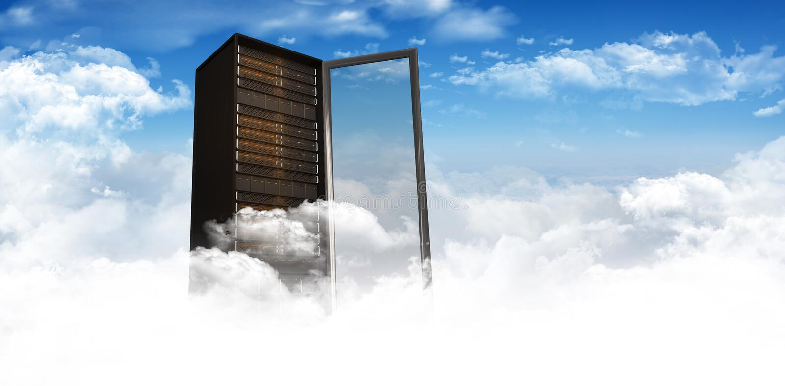 Composite image of server tower stock photography