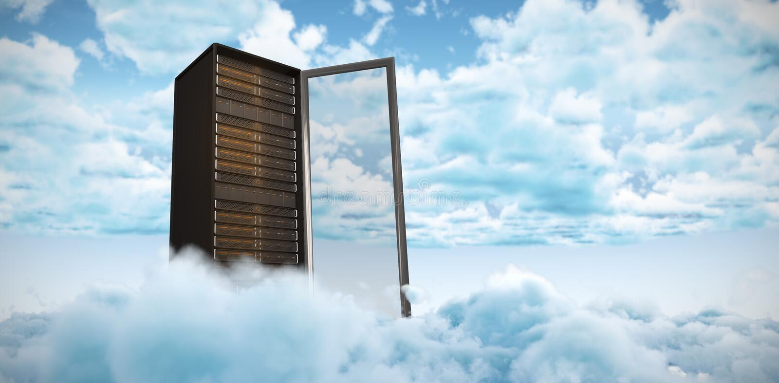 Composite image of server tower royalty free stock images