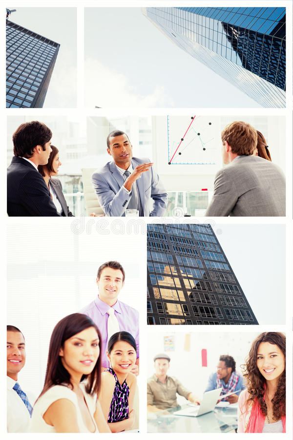 Composite image of skyscraper stock images