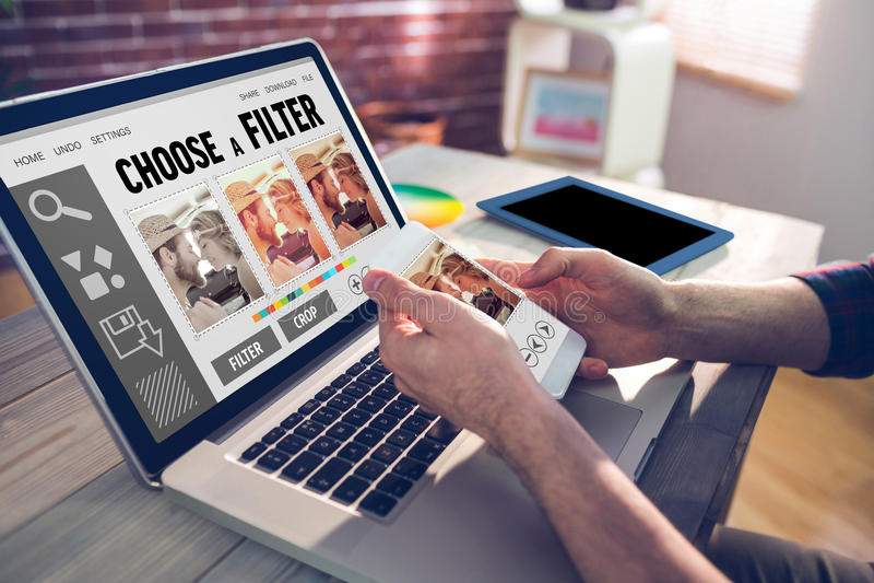 Composite image of smartphone app menu stock images