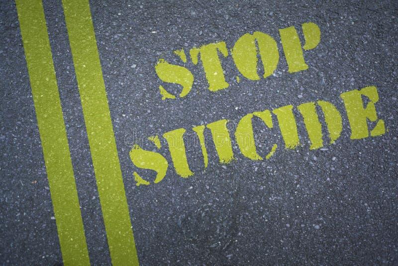 Composite image of stop suicide. Stop suicide against black vector illustration