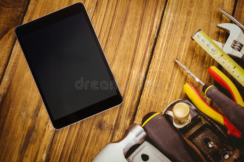 Composite image of tablet pc vector illustration