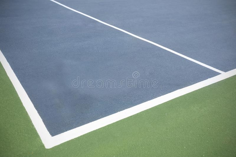 Composite image of tennis court stock photo