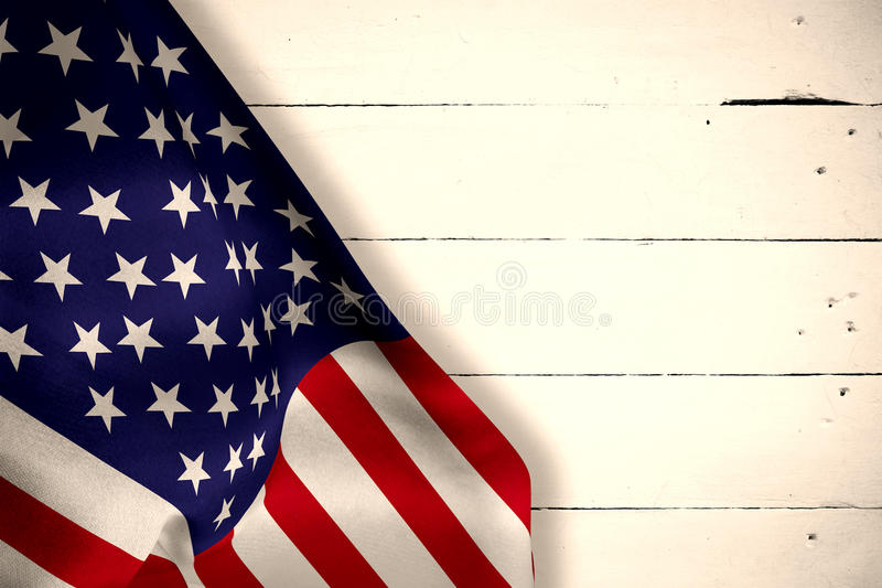 Composite image of us flag vector illustration