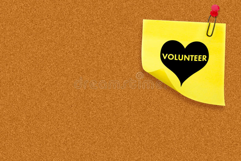 Composite image of volunteer heart royalty free illustration