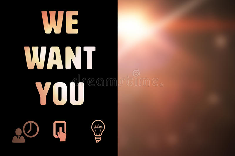 Composite image of we want you royalty free illustration