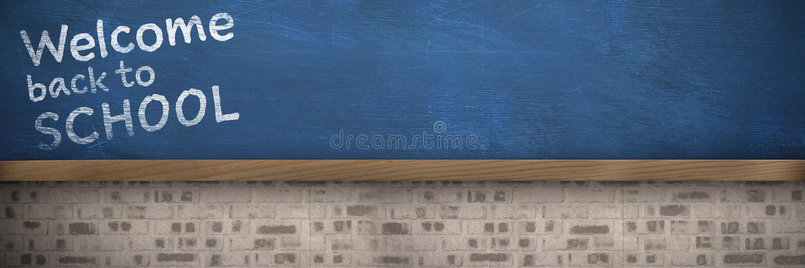 Composite image of welcome back to school text against white background stock illustration