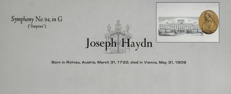 Compositeur autrichien Joseph Haydn photographie stock