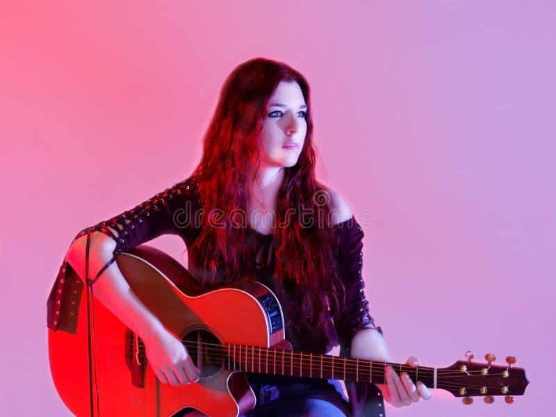 Compositeur de chansons de chanteur images libres de droits