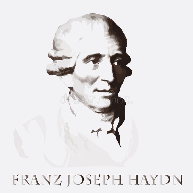 Compositeur Franz Joseph Haydn Verticale de vecteur illustration de vecteur