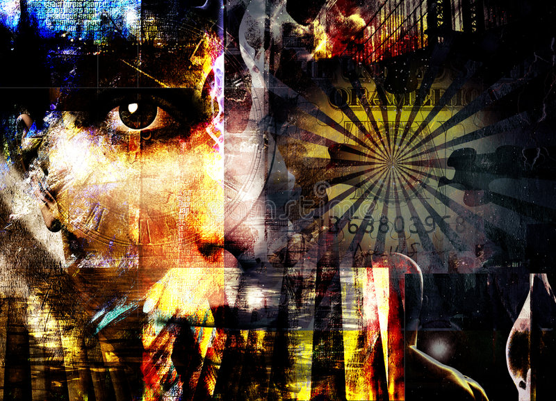 Composition abstraite photo stock