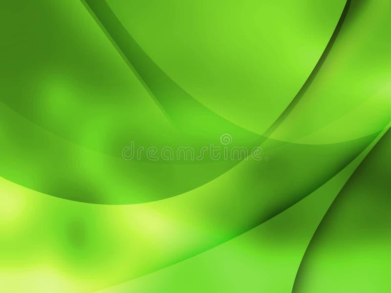 Composition abstraite avec des courbes, lignes, gradients illustration libre de droits