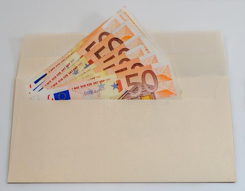 Composition abstraite - beaucoup d'argent dans l'enveloppe image libre de droits