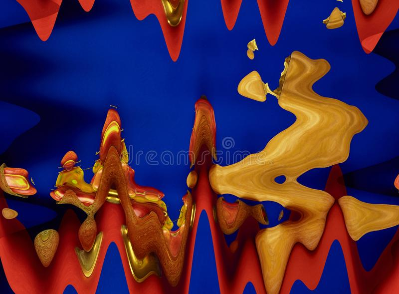Composition abstraite dans des couleurs rouges, bleues et jaunes images stock