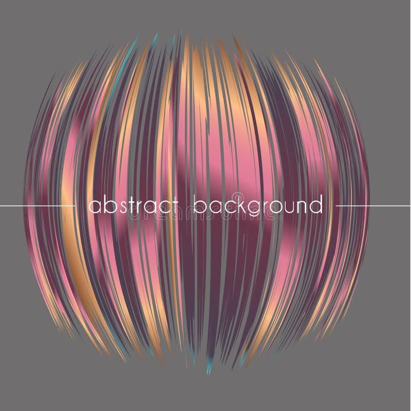 Composition abstraite de forme ronde Fond de différentes lignes onduleuses de gradient Illustration de vecteur illustration libre de droits