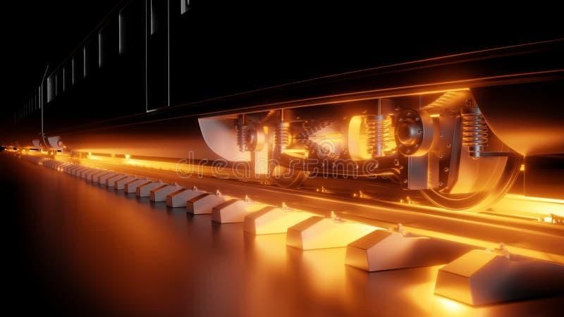Composition abstraite de train à grande vitesse de nuit images stock