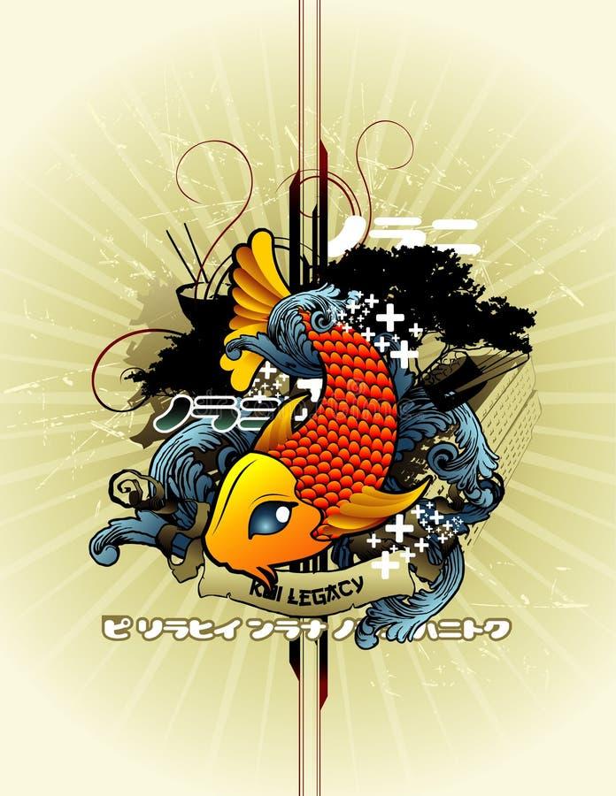 Composition abstraite de vecteur de poissons illustration de vecteur