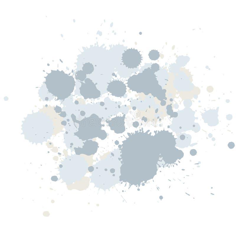 Composition abstraite des taches de balai illustration de vecteur