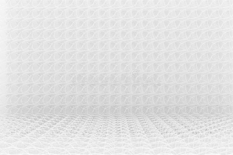 Composition abstraite en cgi, contexte géométrique de tapis de ficelle Papier peint pour la conception graphique Gris ou b&w noir illustration de vecteur
