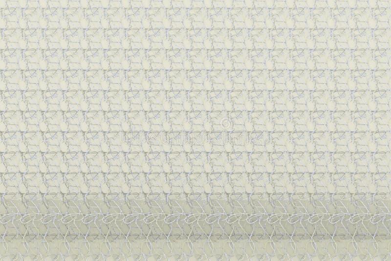 Composition abstraite en cgi de gris ou de b&w noir et blanc, contexte géométrique de tapis de ficelle Papier peint pour la conce illustration stock