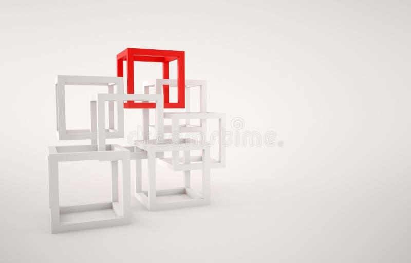 Composition abstraite en cubes illustration libre de droits