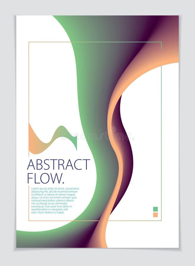 Composition abstraite en fond de vecteur de forme Format de l'impression A4 Brochure, insecte, couverture illustration de vecteur