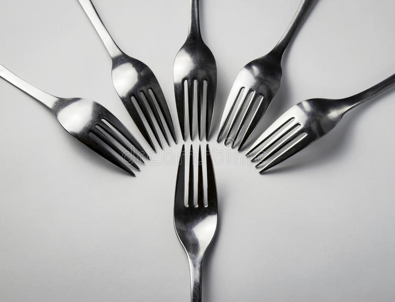 Composition abstraite en fourchettes photographie stock