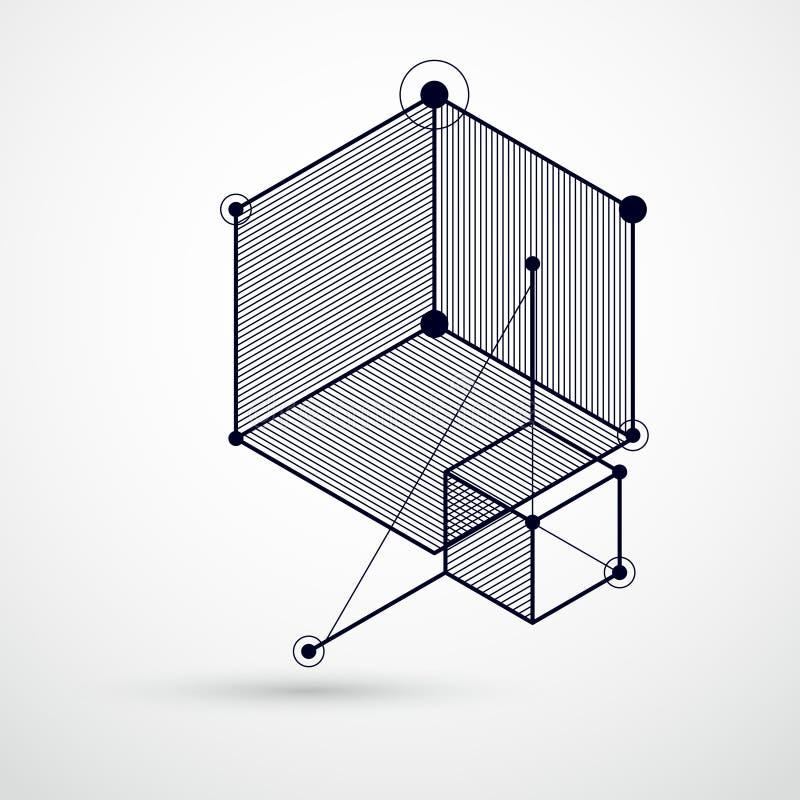 Composition abstraite en vecteur avec les chiffres géométriques simples, symbo illustration stock
