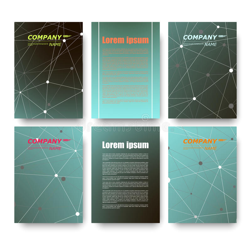 Composition abstraite, ensemble de carte de visite professionnelle de visite, collection de lettre de correspondance, feuille de  images stock
