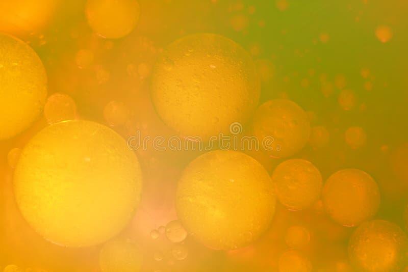 Composition abstraite et colorée avec de l'huile, eau et encre photographie stock libre de droits