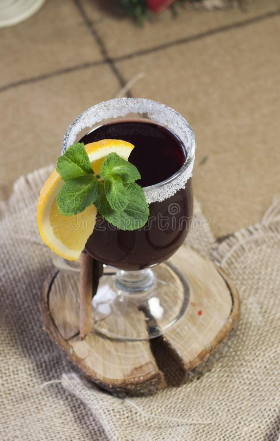 Mulled wine, hot wine stock images
