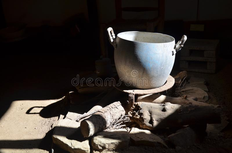 The composition of the ancient household utensils. Composition of the ancient household utensils stock photo