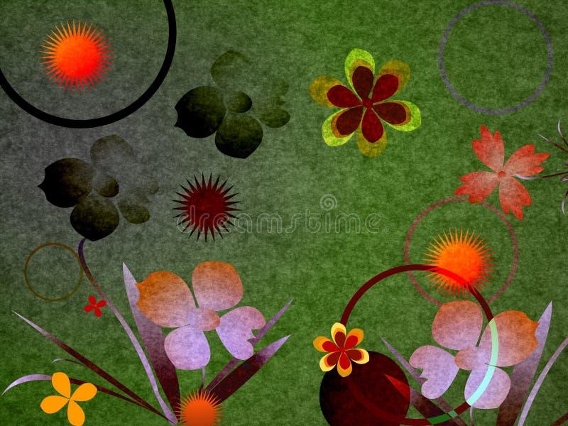 Composition avec des fleurs photos stock