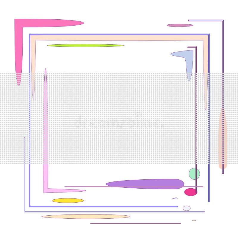 Composition avec des places et des points illustration de vecteur