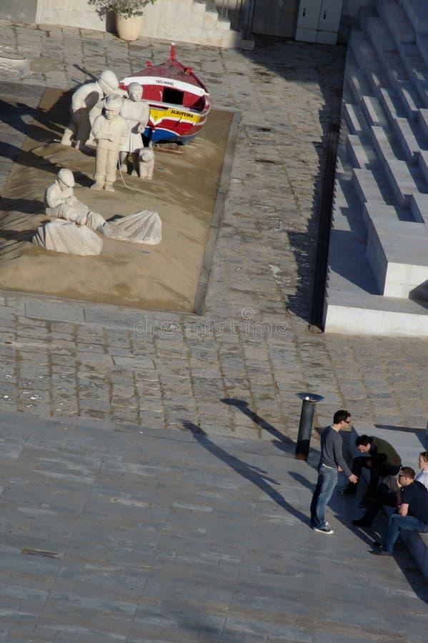 Composition avec des sculptures faites de sable 27 photos libres de droits