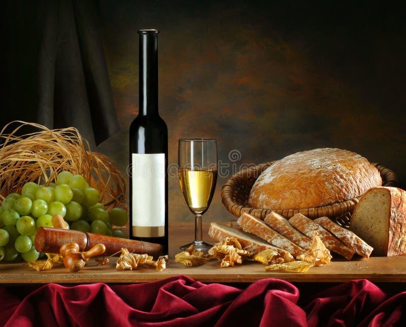 Composition avec du vin image stock