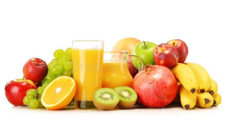 Composition avec la variété de fruits frais Régime équilibré image stock
