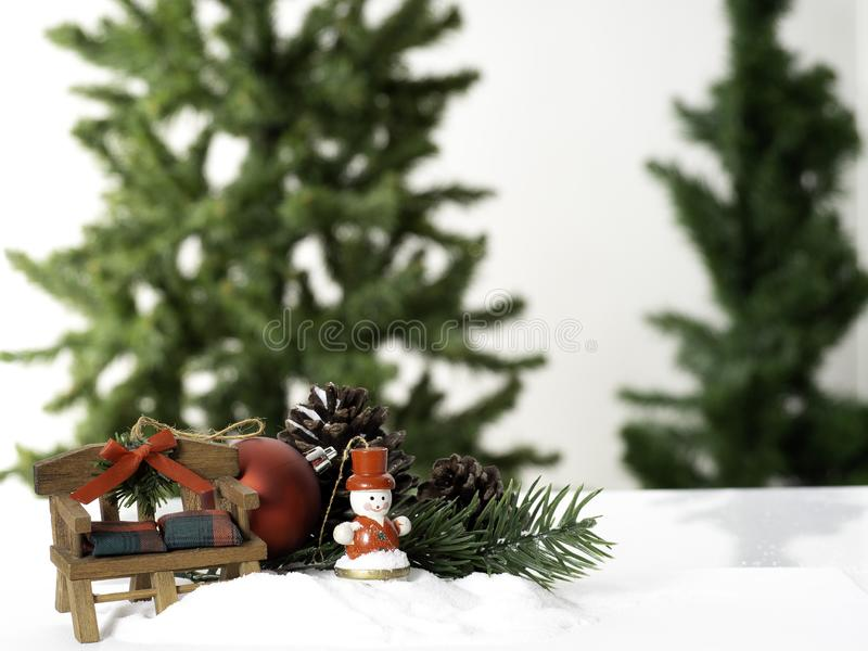 Composition Big Christmas tree decorated stock photography