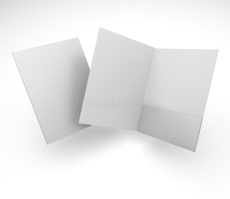 Composition of blank folders stock photos