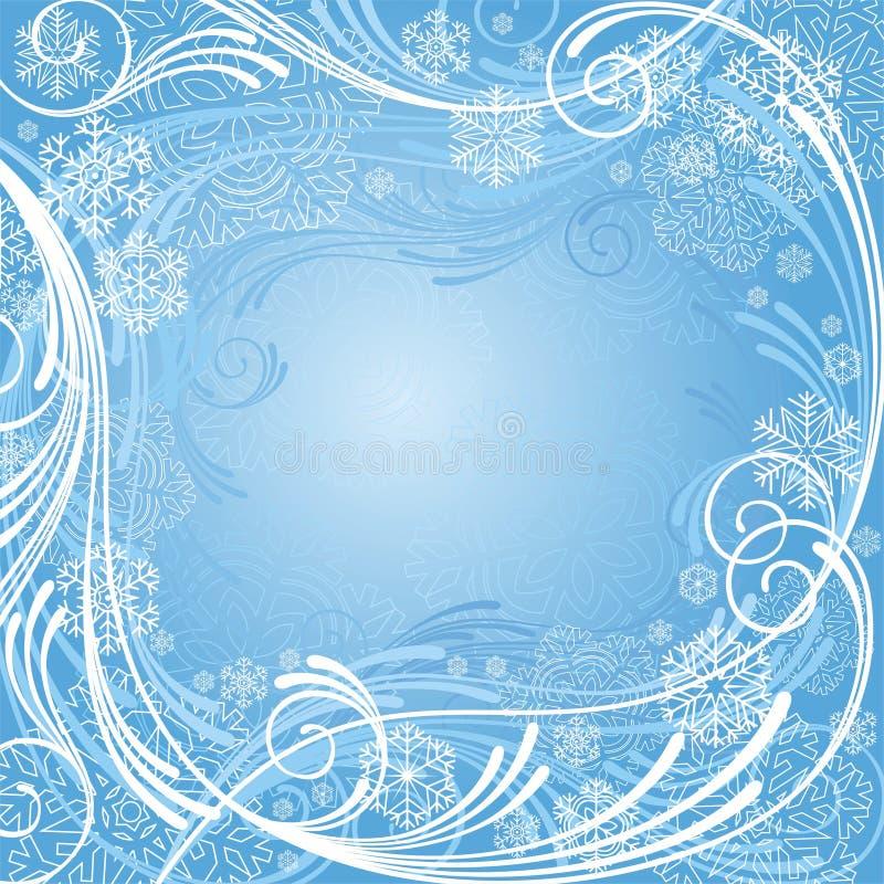 Composition bleue abstraite de l'hiver illustration libre de droits