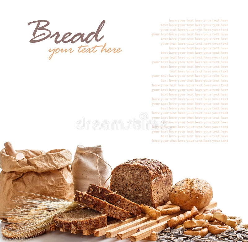 Download Composition with bread stock image. Image of bakery, bread - 28600021