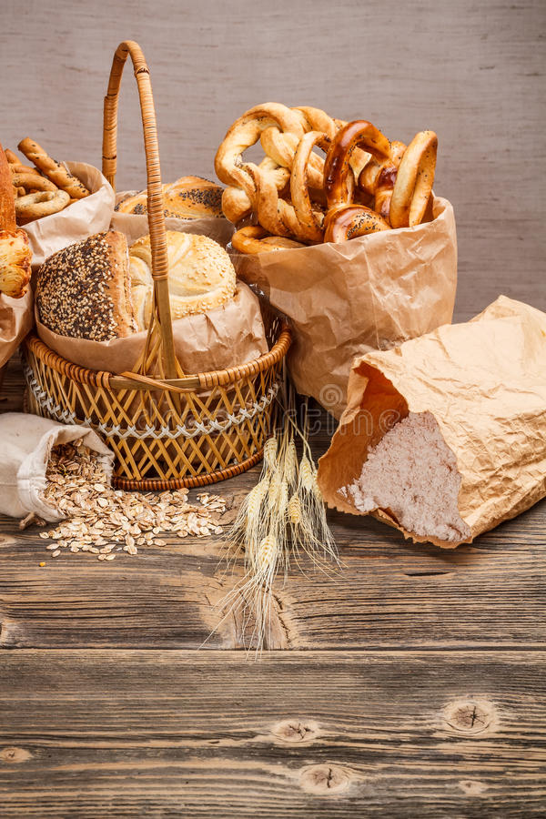 Download Composition With Bread And Rolls Stock Photos - Image: 28516633