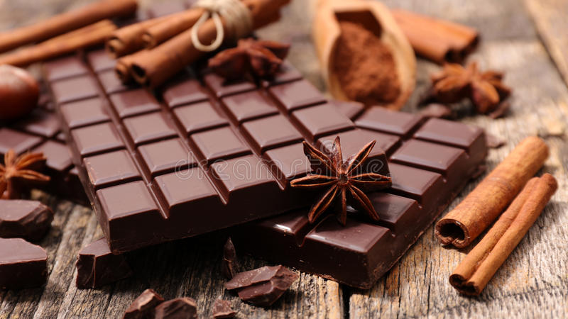Composition chocolate royalty free stock photography